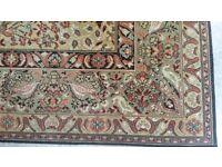 "Large vintage antique Persian rug 10'6""x9'"