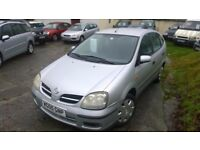 nissan almera tino s auto 2005 registration, 1800cc, covered only 80,000 miles, new mot