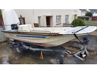 17ft Dory with good trailer and 65hp Outboard needs a little TLC