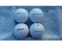 Used Titleist golf balls
