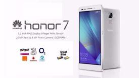 Huawei Honor 7 Dual Sim 16GB Unlocked Android Smart Phone - Silver/White