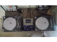 2 x Technics SL 1210 MK2's Shure M44-7 Cartridges and a Numark Mixer