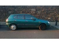 2001 Nissan Almera - Green - Mot to 25 March 2017