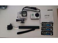 Go Pro Hero 3 + 2GB Micro SD Card & box of Accessories