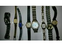 8 ladys watches been in drawer last ten years some nice makes