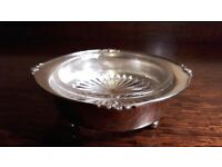 Certified Silver Plate and Glass Dish or Ashtray