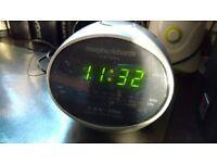 Alarm clock radio (mains/battery backup)