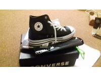 Brand new Leather High top Black Converse for woman/junior.size 5uk