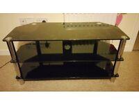 Large glass tv cabinet/unit