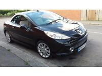 PEUGEOT 207 1.6 GT CONVERTIBLE 2008 1 PREVIOUS OWNER FROM NEW IMMACULATE ONLY 75000 MILES WITH FSH