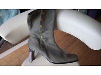 Khaki material boots
