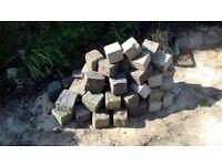 65 Granite stones (bricks)