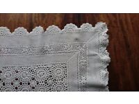 Crochet White Table Cloth/Bedspread