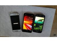 x3 Samsung phones job lot