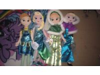 Disney store frozen dolls
