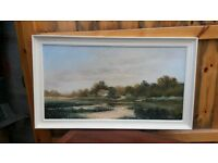 Original oil painting of the countryside in excellent condition