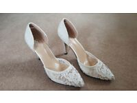 Bridal / wedding lace shoes - ivory color, brand new, never used