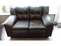 2 SEATER HAND MADE LEATHER SOFA IN BROWN
