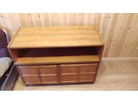 Teak Wood TV Cabinet (Nathan Furniture) - 102w x 75h x 45d
