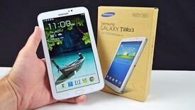 """Samsung Galaxy Tab 3 7"""" WiFi White, Good Condition, Box & Charger"""