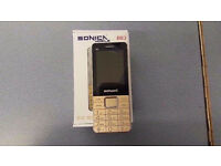 SONICA BB3 BIG BUTTON SLIM PHONE BRAND NEW WITH RECEIPT