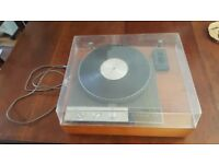 Garrard 401 turntable with plinth and cover NO arm