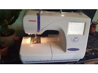 Janome Memory Craft 300e embroidery sewing machine
