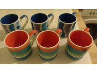 Six Whittards of Chelsea Espresso cups