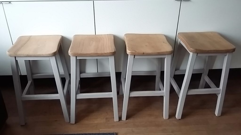 Vintage Old School Wooden Lab Stools In Sheffield