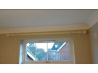 Shabby chic curtain pole