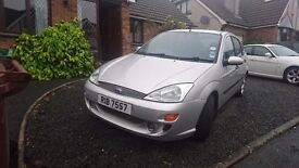 Ford Focus Zetec 1.8i. Just been serviced, new brakes on rear, good tyres. Full years MOT. £695 ONO