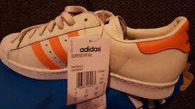 Mens adidas superstar 80s trainers size 8