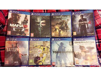 FIFA 17 - MAFIA 3 -TITANFALL 2 - DISHONORED 2 -OVERWATCH -BRAND NEW & SEALED PLAYSTATION 4 GAMES PS4