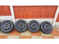 "SET OF 14"" WHEELS & TYRES TO FIT TOYOTA AYGO , CITROEN C1 , PEUGEOT 107"