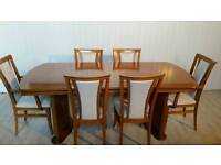Large Dining Table and 6 Chairs 001