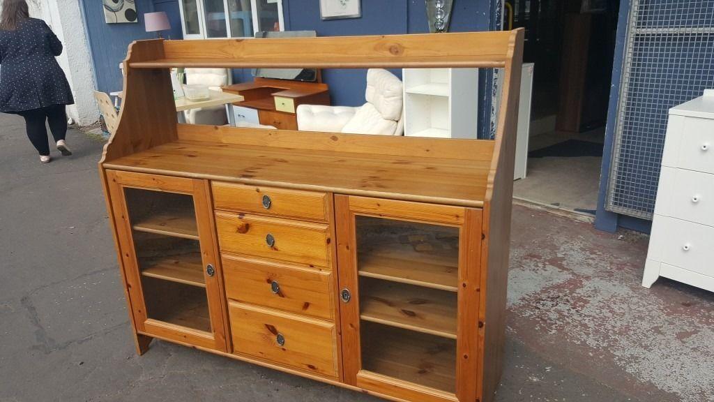 Credenza Ikea Serie Leksvik : Ikea leksvik solid wood sideboard buffet dresser in antique pine