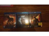 Batman trilogy blu rays