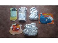 CAKE TINS, Novelty various .COOKIE MONSTER Etc.