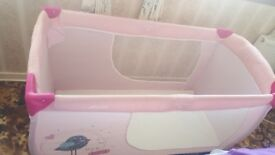 Travel Cot Bed and Accessories