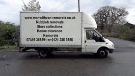 Man and Van for hire Luton van with tail lift Competitive prices, call for a free quote