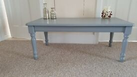 Pine coffee table finished in Rustoleum furniture paint 'Slate' (C)