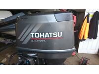 Tohatsu 60 hp 2 stroke electric start power trim oil injection outboard motor 2005 3 months warranty