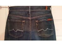 7 FOR ALL MENKIND JEANS was £180 only £5!!!! Size W72cm L106cm