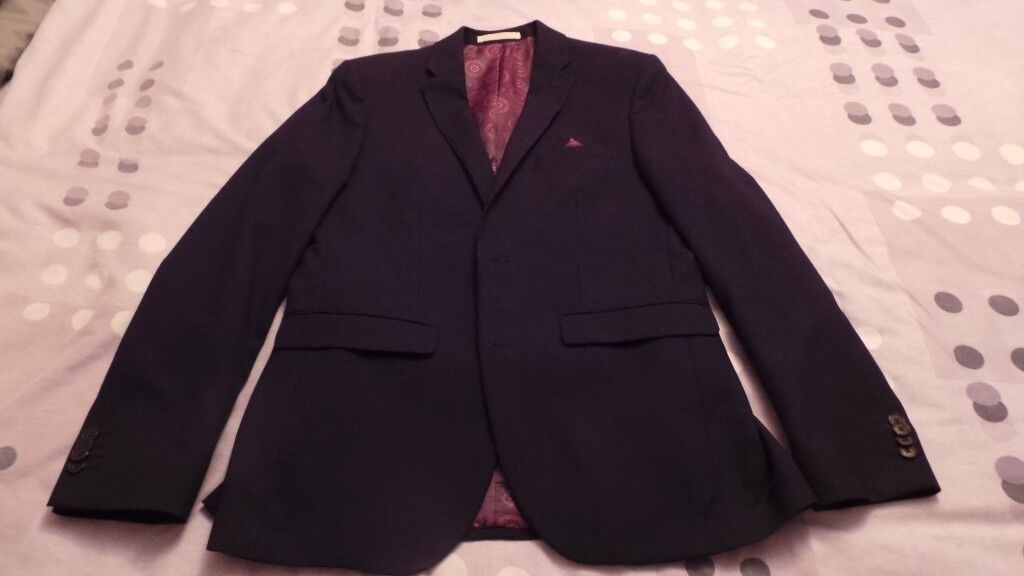 Navy prom suit plus shirt - excellent condition, only worn once for ...