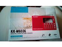 Kchibo mp3 radio BRAND NEW