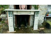 Period slate fire surround