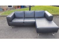 FREE! Leather corner sofa. Free to first person to collect