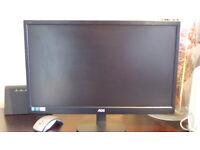 AOC 21.5 inch Full HD Monitor LED, VGA - E2270SWDN