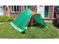 Big double tent (2 man ), green and orange, very good condition, ideal for camping, well-kept,
