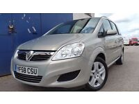 2009 VAUXHALL ZAFIRA EXCLUSIVE SILVER NEW MOT NEW CAMBELT LOW MILEAGE 7 SEATER